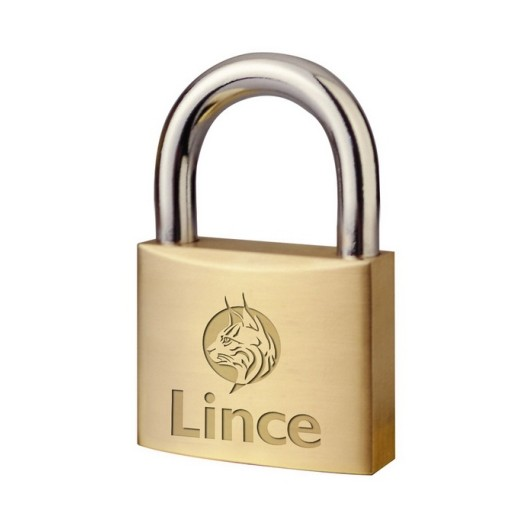 Candado Seguridad  40Mm Arco Corto Laton Lince