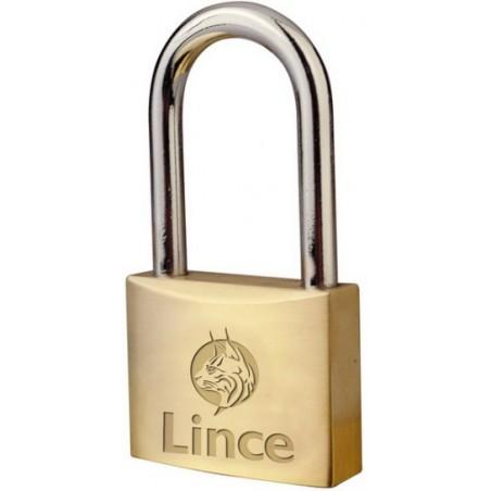 Candado Seguridad  30Mm Arco Largo Laton Lince