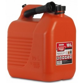 Bidon Trasvase Liquido  Carburante 265X200X307Mm 10Lt Con Canula Plastico Rojo Tayg