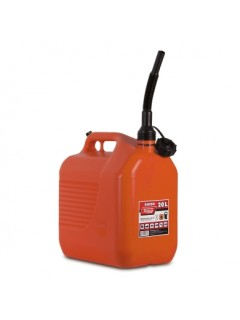 Bidon Trasvase Liquido  Carburante 345X234X377Mm 20Lt Con Canula Plastico Rojo Tayg