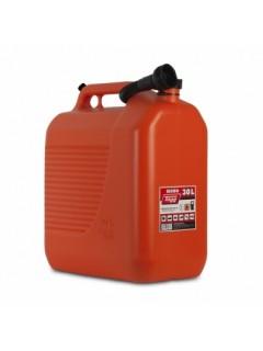 Bidon Trasvase Liquido  Carburante 400X237X464Mm 30Lt Con Canula Plastico Rojo Tayg