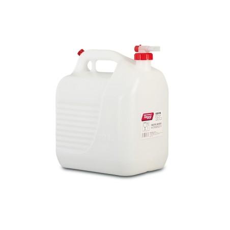 Bidon Trasvase Liquido  Alimentario 265X200X307Mm 10Lt Tapon/Grifo Plastico BlancoTayg