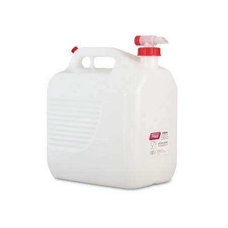Bidon Trasvase Liquido  Alimentario 345X234X377Mm 20Lt Tapon/Grifo Plastico BlancoTayg