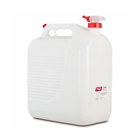 Bidon Trasvase Liquido  Alimentario 400X237X464Mm 30Lt Tapon/Grifo Plastico BlancoTayg