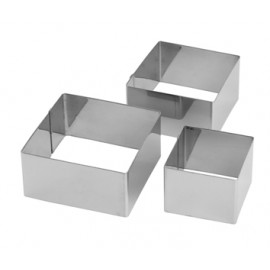 Molde Emplatar Cuadrado 10X4,5Cm Inox Ilsa