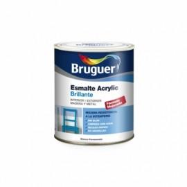 Esmalte Acrilico Brillante 4 Lt Blanco/Permanente Interior/Exterior  Sin Olor Bruguer