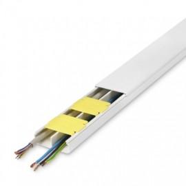 Canaleta Electricidad 53X20Mm Adhesivo Pvc Blanco Inofix 8 Pz