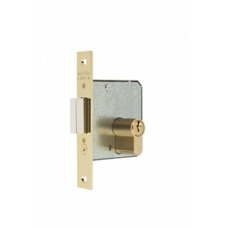 Cerradura Madera Embutir  20X25Mm 1512-2-25 Laton Canto Cuadrado Mcm