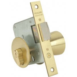 Cerradura Madera Embutir  22X50Mm 1561-3-50 Laton Pomo Canto Cuadrado Mcm