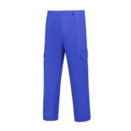 Pantalon Trabajo T44 Elastico Algodon Azul L500 Vesin