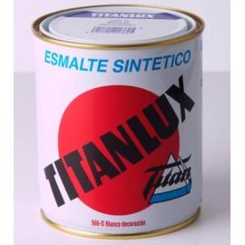 Esmalte Sintetico  Brillante  750 Ml Gris/Medio Interior/Exterior  Titan Titanlux