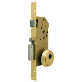 Cerradura Seguridad Madera Embutir 50Mm R200Nt66T Laton 1Punto Tesa