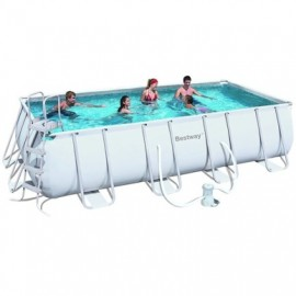 Piscina Pvc Rectangular 412X201X122Cm Cartucho 8124Lt Power Steel