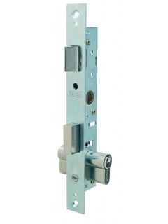 Cerradura Metalica Embutir 23X15Mm 220015Hz Cincado Picaporte Palanca Tesa