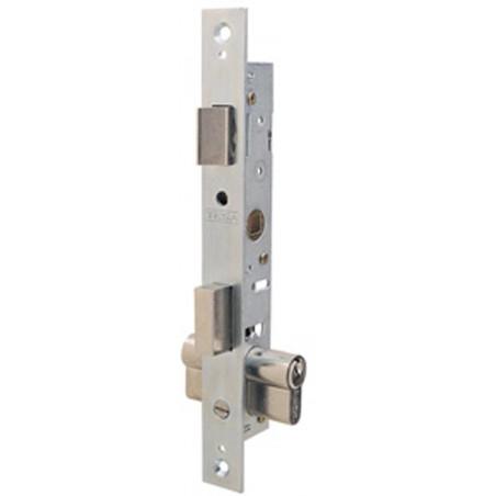 Cerradura Metalica Embutir 23X15Mm 220615Hz Cincado Rodillo/Palanca  Tesa