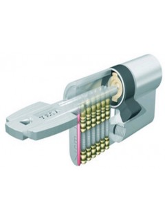 Cilindro Seguridad  30X30Mm M6503030N Niquel Leva Corta Tesa