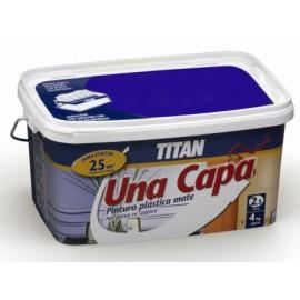 Pintura Plastica Mate 2,5 Lt Fucsia Interior Mono Una Capa Titan