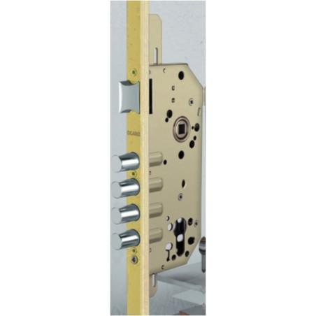 Cerradura Seguridad Madera Embutir 1049R12350Rl Oro Mat 1Punto Ocariz