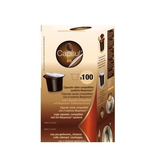 Capsula Cafe Rellenable Nespresso Capsul-In 100 Pz