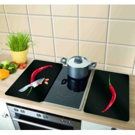 Tabla Cocina 30X52Cm Proteccion Vitroceramica Vidrio Peperoni Wenko