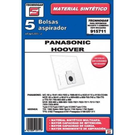 Bolsa Aspirador Papel Panasonic-Hoover Thogar 5 Pz 915711