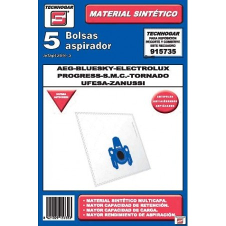 Bolsa Aspirador Papel Aeg-Electrolux Thogar 5 Pz 915735