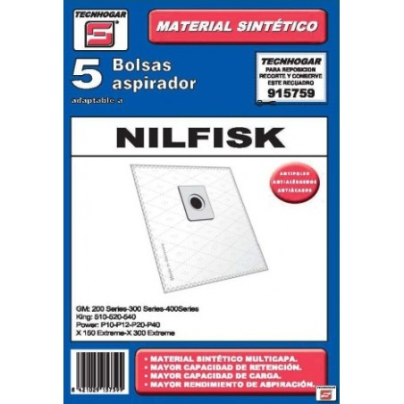 Bolsa Aspirador Papel Nilfisk Thogar 5 Pz 915759