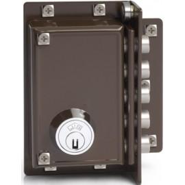 Cerradura Seguridad Sobreponer  88X40Mm 5239-70-D Marron 5 Bulones Derecha Jis