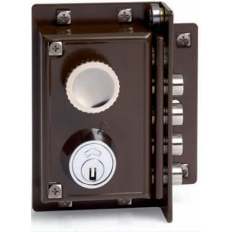 Cerradura Seguridad Sobreponer  88X40Mm 5240-70-D Marron 4 Bulones Derecha Jis