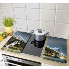 Tabla Cocina 30X52Cm Proteccion Vitroceramica Vidrio Brooklyn Wenko