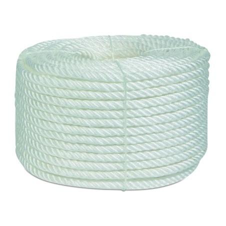 Cuerda Torcida 16Mm Polipropileno Blanco  4 Cabos Hyc 100 Mt