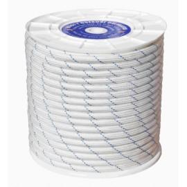 Cuerda Trenzada  Doble 12Mm Polipropileno Blanco/Azul Hyc 100 Mt