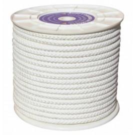 Cuerda Trenzada  10Mm Nylon Blanco Mate Hyc 100 Mt
