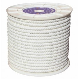 Cuerda Trenzada  12Mm Nylon Blanco Mate Hyc 100 Mt