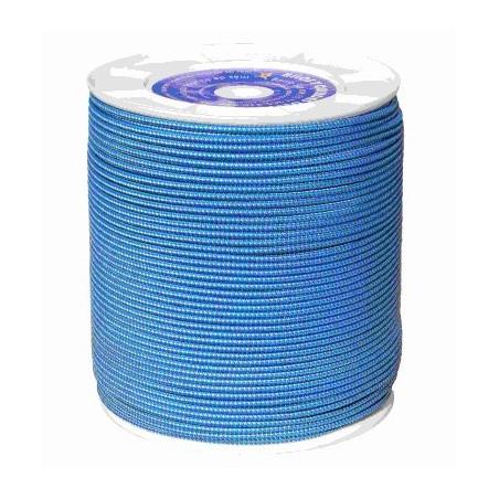Cuerda Trenzada  Doble 04,5Mm Nylon Blanco/Azul Sedal Interior Hyc 500 Mt