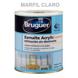 Esmalte Acrilico Satinado  250 Ml Marfil/Claro Interior/Exterior  Sin Olor Bruguer
