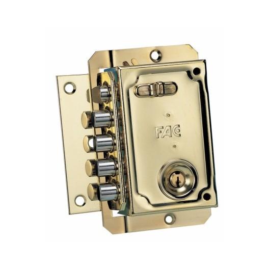 Cerradura Seguridad Sobreponer  144X90Mm 11006 Dorado Picaporte/4Pasadores Izquierda Fac