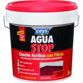 Pintura Impermeabilizante Caucho/Acrilico 5 Kg Terra Fibra  Aguastop