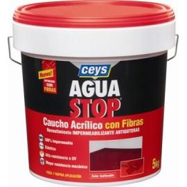 Pintura Impermeabilizante Caucho/Acrilico 5 Kg Gris Fibra  Aguastop