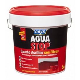 Pintura Impermeabilizante Caucho/Acrilico 5 Kg Blanco Fibra  Aguastop