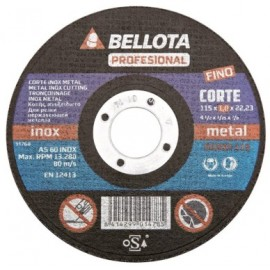 Disco Corte Inox 125X1X22 Mm Bellota