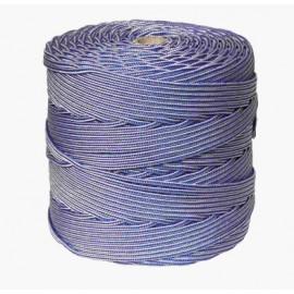 Cuerda Trenzada  05Mm Polipropileno Blanco/Azul Hyc 200 Mt