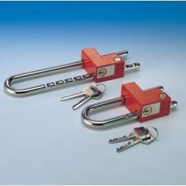 Candado Seguridad  47-123Mm Arco Cremallera Extensible Laton 530/70 Niquel Fac