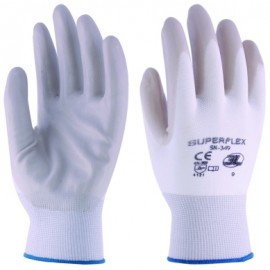 Guante Mecanico Xl10 Palma Nitrilo Superflex Nylon Blanco/Gris 3L
