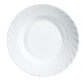 Plato Mesa Hondo 22,5Cm Redondo Trianon Blanco Cristal Luminarc