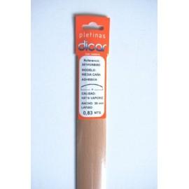 Pletina Perfilada 83X3,5Mm 1/2Caña Adhesivo Inox Haya