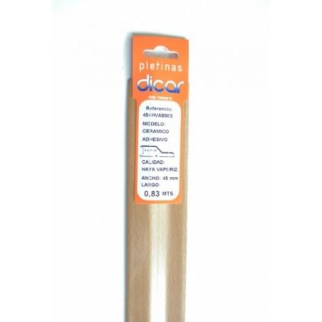 Pletina Perfilada 83X45Mm Distinto Nivel Adhesivo Inox Haya