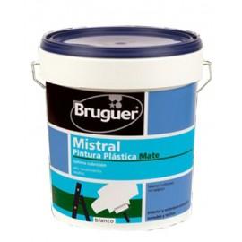 Pintura Plastica Mate 4 Lt Blanco Interior Mistral Bruguer