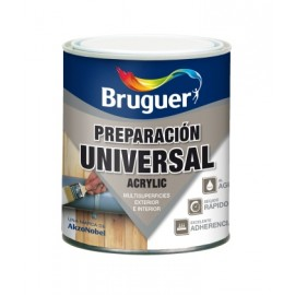 Pintura Preparacion Madera 250 Ml Blanco Agua Acrilica Bruguer