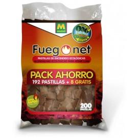 Pastilla Encendido Barbacoa Ecologica Fuegonet 192 Pz